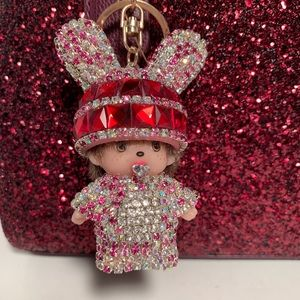 Accessories - [BNWT]MONCHICHI GLITTER DOLL KEYCHAIN